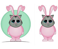 Tabby Cat in Bunny Suit Royalty Free Stock Image