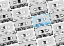 Tabe del casete para el reccord de la música Imagen de archivo
