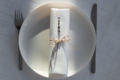 Tabel de la decoración foto de archivo libre de regalías