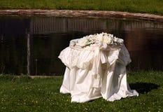 Tabela 4 do casamento Fotos de Stock Royalty Free