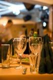 Tabela ajustada de jantar fina Foto de Stock