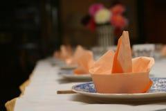 A tabela ajustou-se para o jantar Fotos de Stock Royalty Free