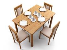 Tabela & cadeiras Fotografia de Stock