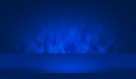 tabela azul do Showcase 3D Fotos de Stock