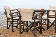 tabela barów krzeseł zdjęcia stock