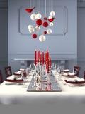 Tabela belamente ajustada para a Noite de Natal rendição 3d Imagem de Stock Royalty Free