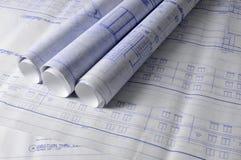 tabela blueprins architektury Zdjęcia Stock