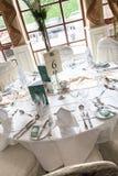 Tabela bonita do casamento Fotos de Stock Royalty Free