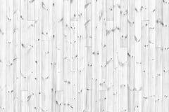 Tabela branca das placas de madeira - fundo de madeira claro Imagens de Stock Royalty Free