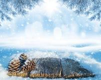 Tabela coberto de neve foto de stock royalty free