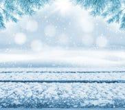 Tabela coberto de neve imagem de stock royalty free