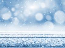 Tabela coberto de neve fotografia de stock