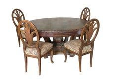 Tabela com as cadeiras do século 18 Fotografia de Stock Royalty Free