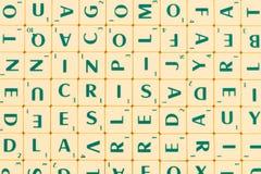 Tabela com muitas letras inglesas imagem de stock