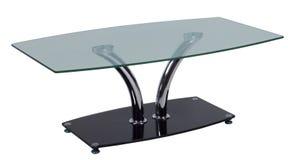 Tabela com um tampo da mesa de vidro foto de stock royalty free