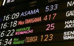 tabela czasu pociąg Obraz Royalty Free