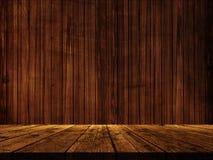 tabela 3D de madeira contra uma textura de madeira da parede ilustração stock