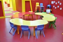 Tabela da área de jogo de crianças do jardim de infância Foto de Stock Royalty Free