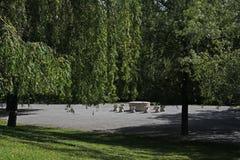 A tabela da aleia do silêncio, Constantin Brancusi, Targu Jiu, Romênia Fotografia de Stock