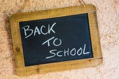 Tabela da ardósia de volta à escola Foto de Stock