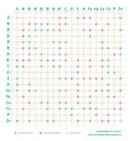 Tabela da compatibilidade das vitaminas e dos minerais Carta da interação Estilo de vida e dieta saudáveis Cartaz de Infographic  ilustração do vetor