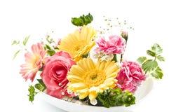 Tabela da flor fotografia de stock