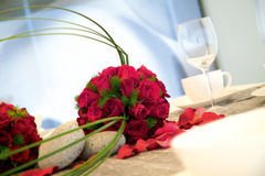 Tabela da recepção do jantar de casamento Imagem de Stock