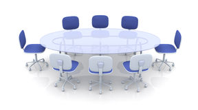 Tabela da sala de reuniões ilustração stock