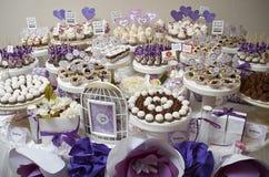 Tabela da sobremesa no casamento Imagem de Stock Royalty Free