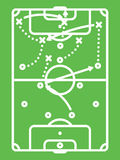 Tabela da tática do futebol/futebol Esquema dos ataques Linha arte Fotografia de Stock Royalty Free