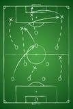 Tabela da tática do futebol Ilustração do vetor O esquema tático Imagens de Stock