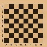 Tabela da xadrez Vista superior ilustração stock