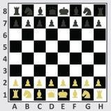 Tabela da xadrez, vista superior ilustração royalty free
