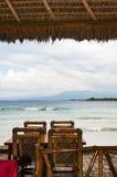 Tabela de Bali com opinião do mar Fotografia de Stock