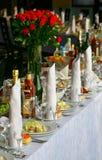 Tabela de banquete Fotografia de Stock