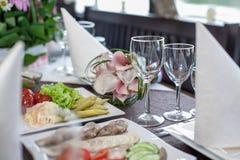 Tabela de banquete Fotos de Stock