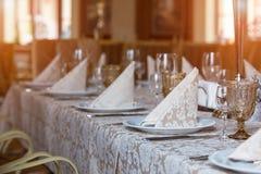 Tabela de banquete Fotografia de Stock Royalty Free