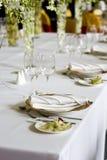 Tabela de banquete imagem de stock