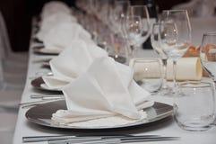 Tabela de banquete ajustada Imagens de Stock