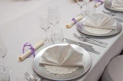 Tabela de banquete ajustada Imagens de Stock Royalty Free