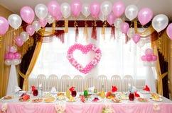 Tabela de banquete do casamento Fotos de Stock