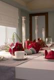 Tabela de banquete do hotel fotos de stock royalty free