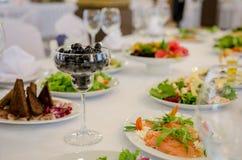 Tabela de banquete do serviço Imagem de Stock Royalty Free