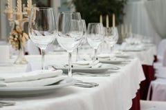 Tabela de banquete em um restaurante Imagem de Stock