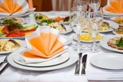 Tabela de banquete luxuosa Imagens de Stock