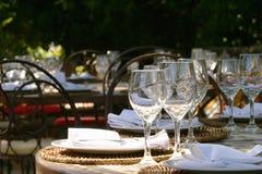 Tabela de banquete no afrika sul Fotografia de Stock Royalty Free