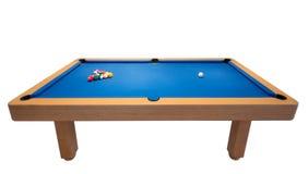 Tabela de bilhar com as bolas para o jogo. Fotos de Stock Royalty Free