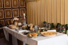 Tabela de café da manhã fotografia de stock royalty free