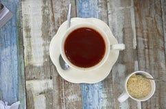 A tabela de café da manhã Fotos de Stock Royalty Free