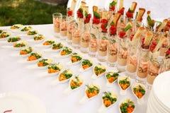 Tabela de cocktail Imagens de Stock